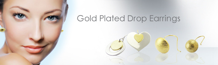 Wholesale Gold Plated 925 Sterling Silver Drop Earrings - Vermeil Drop Earrings Wholesaler